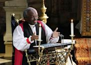 <p>Most Rev Michael Curry, the head of Episcopal Church in the US, gave the address, focusing on the idea of love. (Getty) </p>