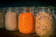 """<p>Moisture is the worst thing that can happen to whole grains like barley, oats, quinoa, wheat and wild rice. It can make them go bad before you get to <a href=""""https://www.thedailymeal.com/cook/best-salads-without-lettuce-slideshow?referrer=yahoo&category=beauty_food&include_utm=1&utm_medium=referral&utm_source=yahoo&utm_campaign=feed"""" rel=""""nofollow noopener"""" target=""""_blank"""" data-ylk=""""slk:use them in salads,"""" class=""""link rapid-noclick-resp"""">use them in salads,</a> <a href=""""https://www.thedailymeal.com/recipes/ancient-grains-bowl-recipe?referrer=yahoo&category=beauty_food&include_utm=1&utm_medium=referral&utm_source=yahoo&utm_campaign=feed"""" rel=""""nofollow noopener"""" target=""""_blank"""" data-ylk=""""slk:grain bowls"""" class=""""link rapid-noclick-resp"""">grain bowls</a> and more. To keep these dry goods better for longer, store them in airtight containers with tight-fitting lids. Glass, plastic and plastic bags with zippers all will do the trick.</p>"""