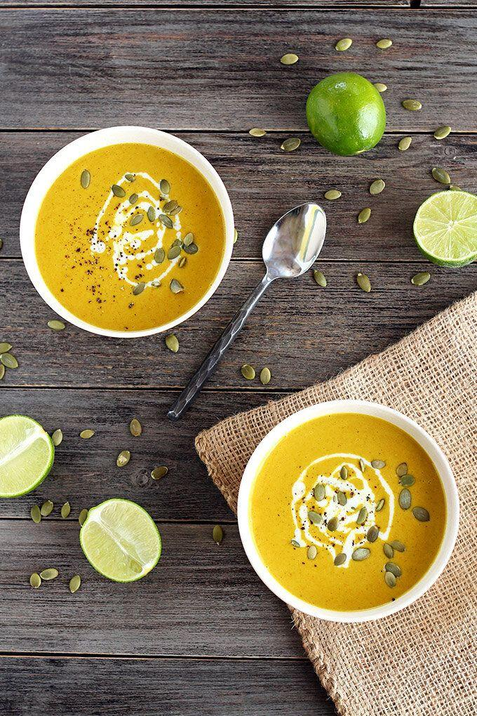 """<a href=""""https://www.ilovevegan.com/easy-chickpea-curry-soup/"""" target=""""_blank"""" rel=""""noopener noreferrer""""><strong>Get the Easy Chickpea Curry Soup recipe from I Love Vegan.</strong></a>"""