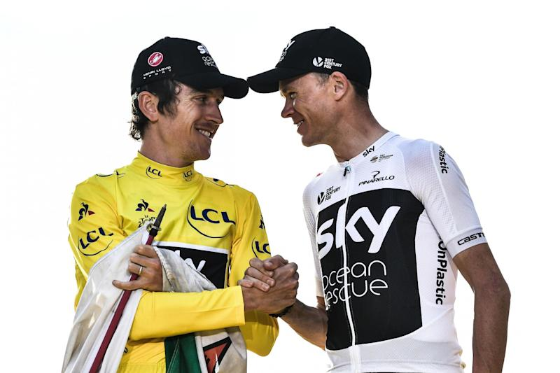Tour de France winners: Geraint Thomas and Chris Froome: AFP/Getty Images