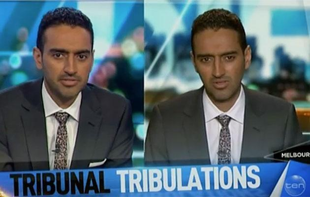 Waleed then put the hard word on himself. Source: Channel Ten