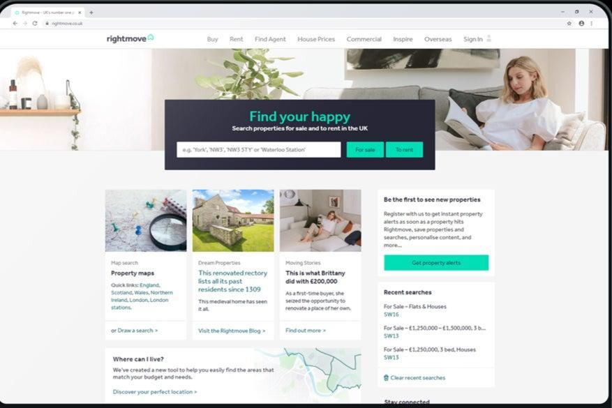 Rightmove has seen website traffic soar during the pandemic (Rightmove)