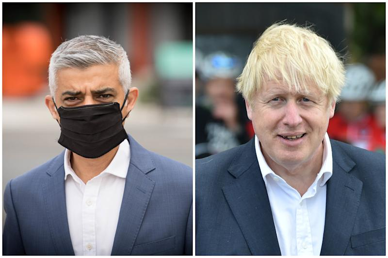 The government has insisted Sadiq Khan should have known about its plans for a potential London lockdown two weeks ago. (AP Photo/Rui Vieira, Pool/PA Images)