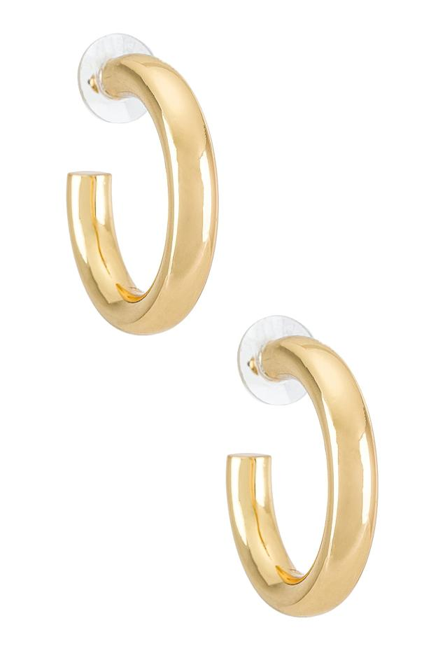 """<p>These <product href=""""https://www.revolve.com/baublebar-dalilah-medium-tube-hoop-earrings/dp/BAUR-WL22/?d=Womens&amp;page=1&amp;lc=3&amp;plpSrc=%2Fr%2FBrands.jsp%3FaliasURL%3Djewelry%2Fbr%2F5d8a4a%26c%3DJewelry%26s%3Dc%26sortBy%3Dpopularity&amp;itrownum=1&amp;itcurrpage=1&amp;itview=05"""" target=""""_blank"""" class=""""ga-track"""" data-ga-category=""""internal click"""" data-ga-label=""""https://www.revolve.com/baublebar-dalilah-medium-tube-hoop-earrings/dp/BAUR-WL22/?d=Womens&amp;page=1&amp;lc=3&amp;plpSrc=%2Fr%2FBrands.jsp%3FaliasURL%3Djewelry%2Fbr%2F5d8a4a%26c%3DJewelry%26s%3Dc%26sortBy%3Dpopularity&amp;itrownum=1&amp;itcurrpage=1&amp;itview=05"""" data-ga-action=""""body text link"""">BaubleBar Dalilah Medium Tube Hoop Earrings</product> ($38) are classic and a perfect gift for just about anyone.</p>"""