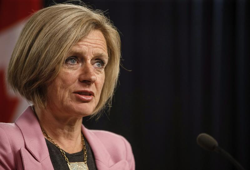Alberta Premier Rachel Notley updates speaks to reporters.THE CANADIAN PRESS/Jason Franson