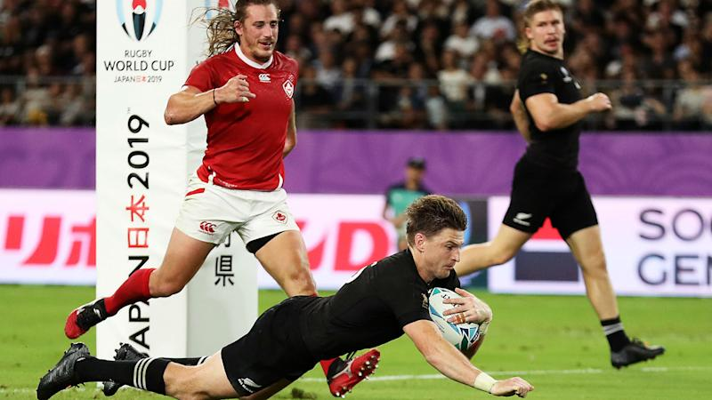 Beauden Barrett Rugby World Cup 2019: New Zealand 63-0 Canada