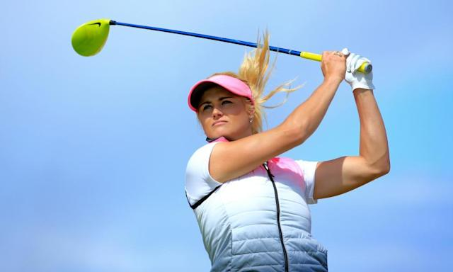"""<span class=""""element-image__caption"""">Scotland's Carly Booth is one of four players in a Twitter poll with the winner getting a sponsor's exemption to an upcoming LPGA event.</span> <span class=""""element-image__credit"""">Photograph: David Cannon/Getty Images</span>"""
