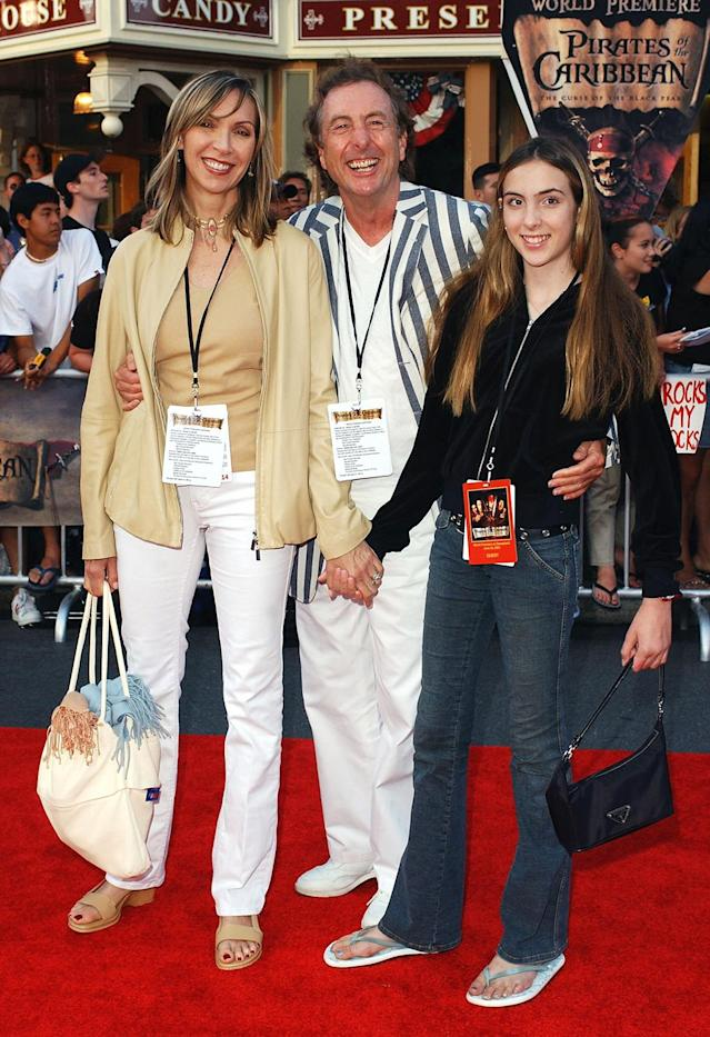<p>Monty Pyhton alum Eric Idle, who has worked with Disney on several projects for their theme parks, brought along wife Tania and daughter Lilly. (Photo: Amanda Edwards/Getty Images) </p>