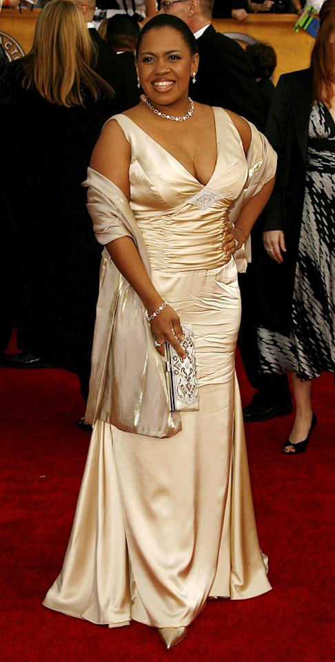 "<a href=""/elizabeth-perkins/contributor/28554"">Chandra Wilson</a> at the <a href=""/the-2007-screen-actors-guild-awards/show/40550"">13th Annual Screen Actors Guild Awards</a>."