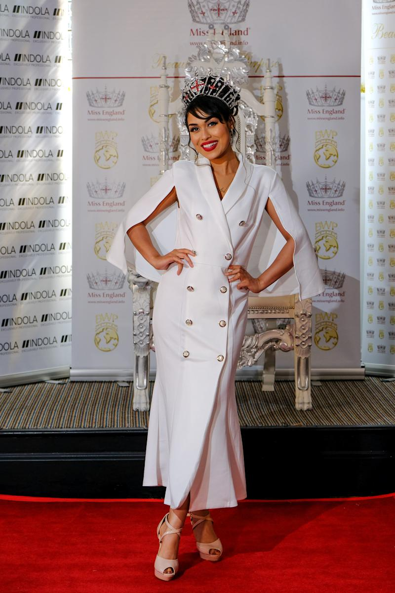 Dr Mukherjee was originally crowned Miss England in July 2019. (SWNS)