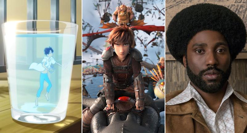 Ride Your Wave, How To Train Your Dragon: The Hidden World, BlacKkKlansman.
