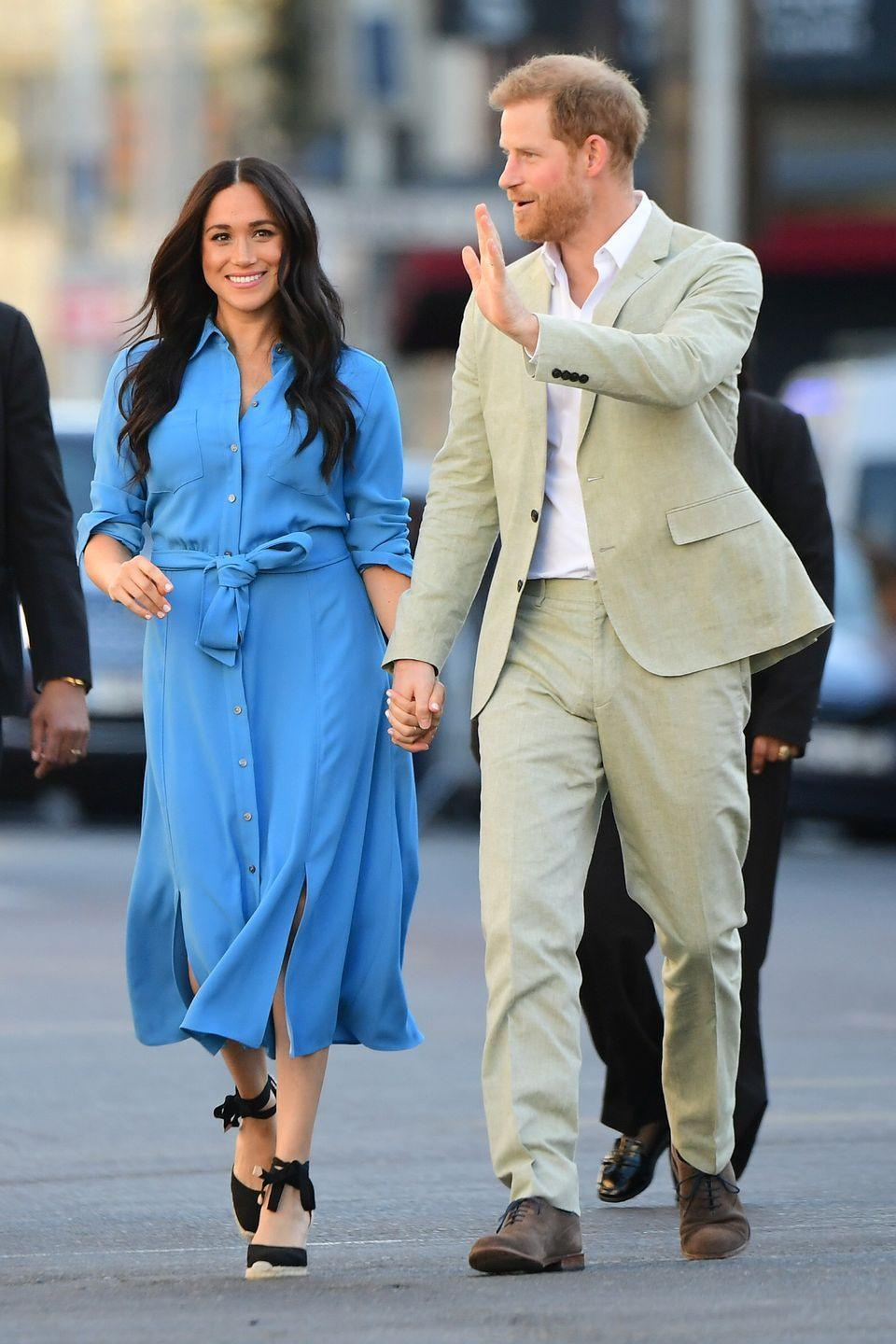 <p>Harry and Meghan made their debut as a royal family on their South African tour, and they made it clear they wanted to shake up their image. Meghan and Harry asked fans to skip the HRH and simply refer to them as, well, Meghan and Harry. This was a move that completely dodged royal protocol. </p>