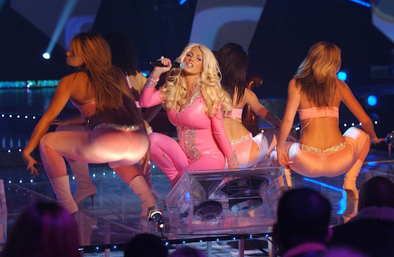 Katie Price (Jordan) performs onstage during a dress rehearsal.