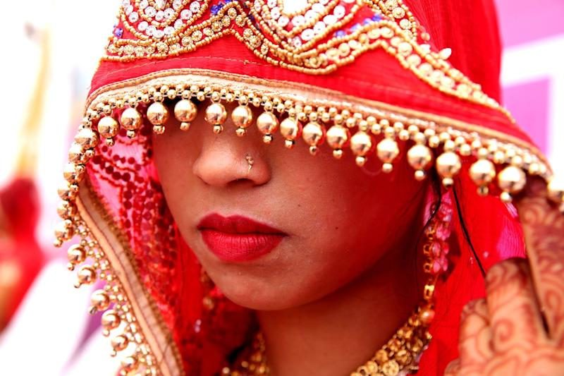 Outrage: The government has vowed to crack down on underage brides: EPA