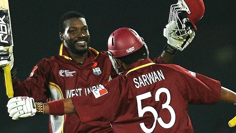 Chris Gayle and Ramnaresh Sarwan, pictured here in action for West Indies in 2006.