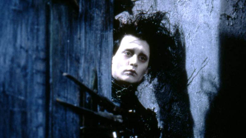 Johnny Depp on the set of 'Edward Scissorhands'. (Photo by 20th Century Fox Pictures/Sunset Boulevard/Corbis via Getty Images)