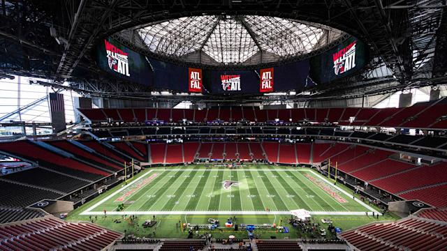 The roof at Mercedes-Benz Stadium is a sight to behold.
