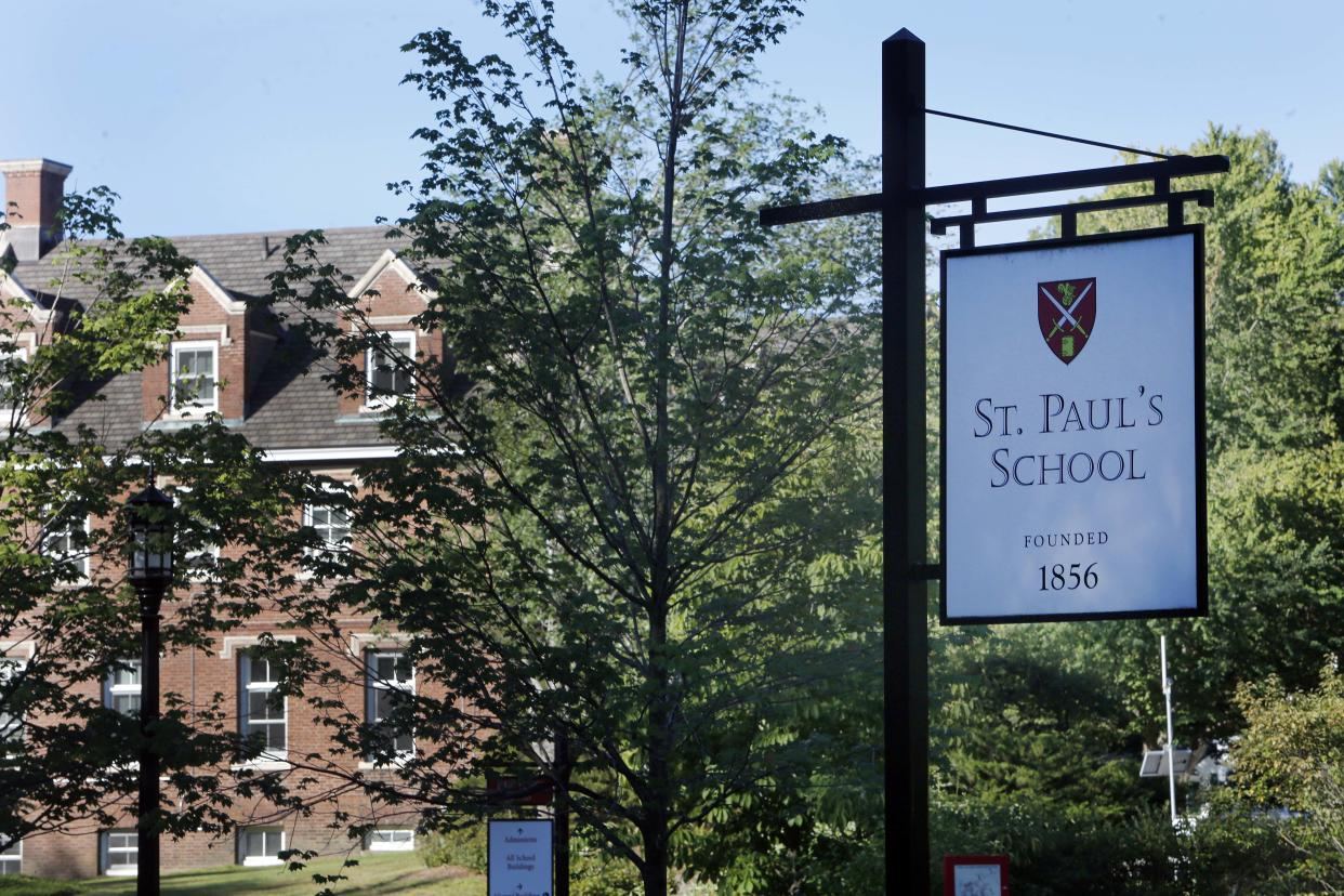 The entrance to the elite St. Paul's School in Concord, N.H., where Owen Labrie assaulted Chessy Prout in May 2014. (Photo: Jim Cole/AP)