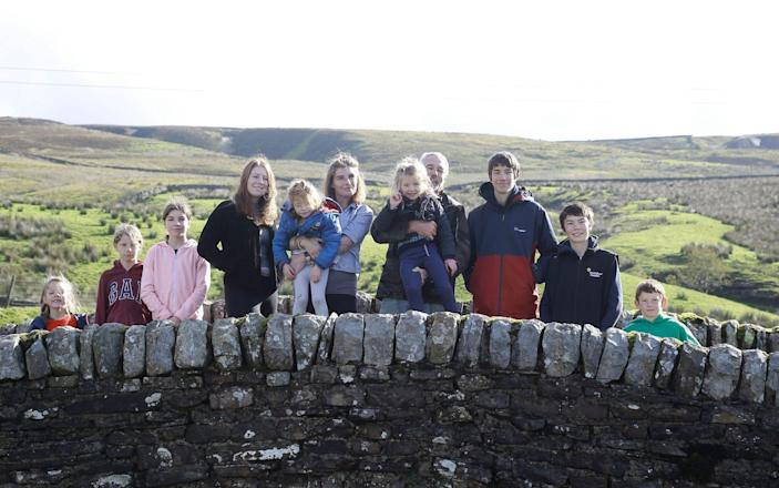 Amanda Owen and family near their home in Yorkshire - Renegade Pictures/Channel 5