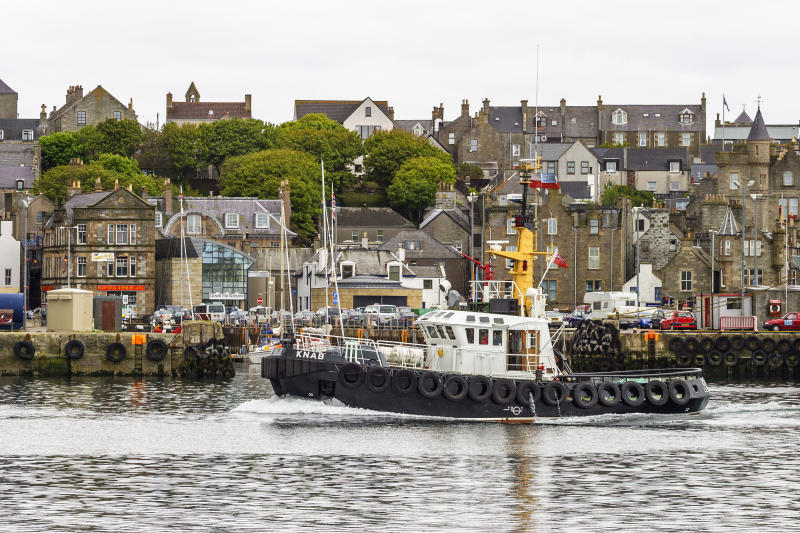A tugboat in Lerwick, the largest settlement in the Shetland islands. (Getty)