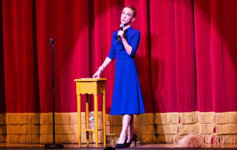 Kathy Griffin fainted while performing on stage in Dublin. She is here performing in Los Angeles last month. Source: Getty