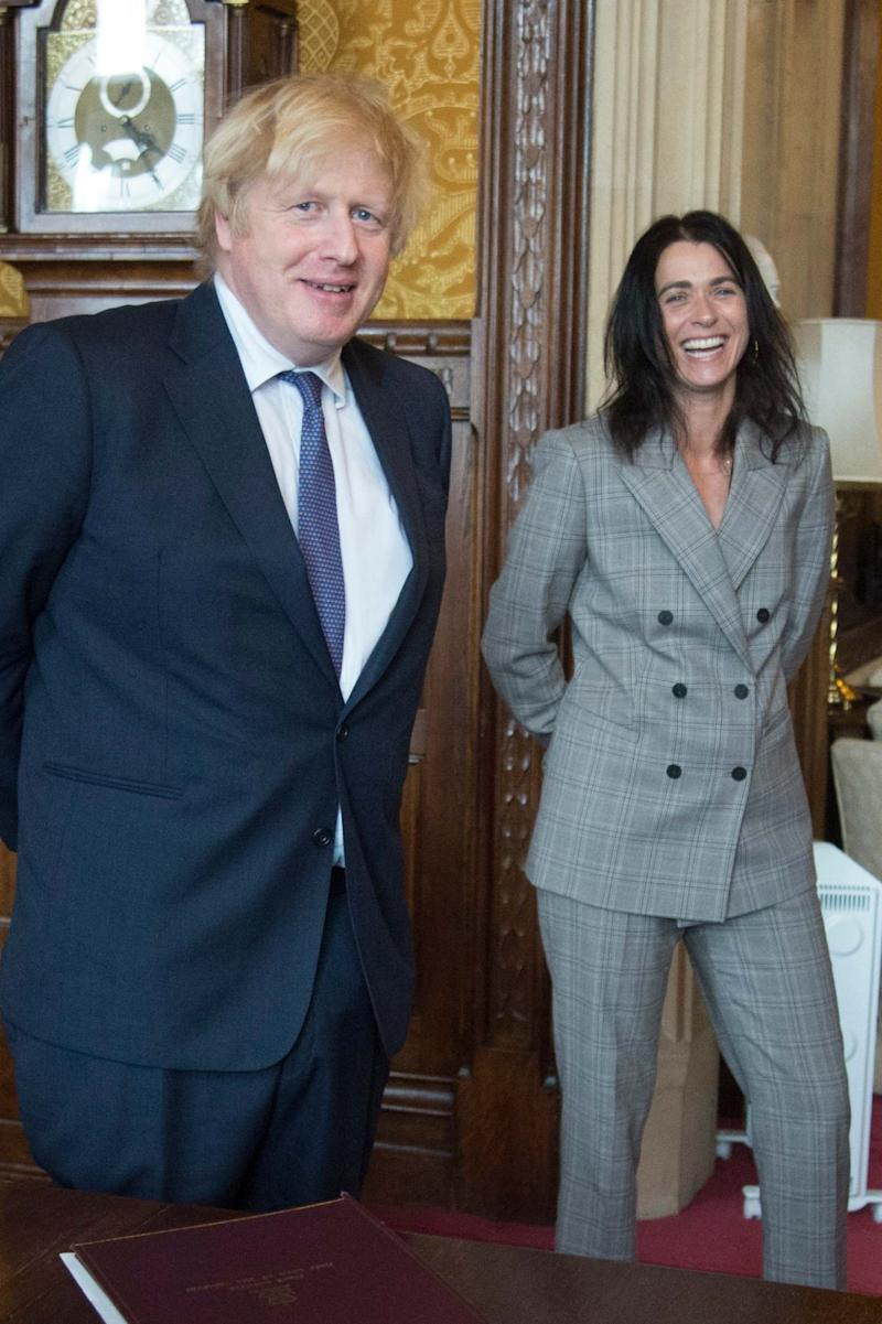 """New start: the Prime Minister meets Evening Standard Editor Emily Sheffield. He says he will """"continue to put our arms around people"""" during this crisis (Jeremy Selwyn)"""