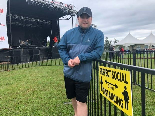 'There's definitely some pressure,' says Adam MacLennan, president of Rock the Boat music festival. The festival, with space for up to 2,000 people, is back after skipping last year due to COVID-19. (Brian Higgins/CBC - image credit)