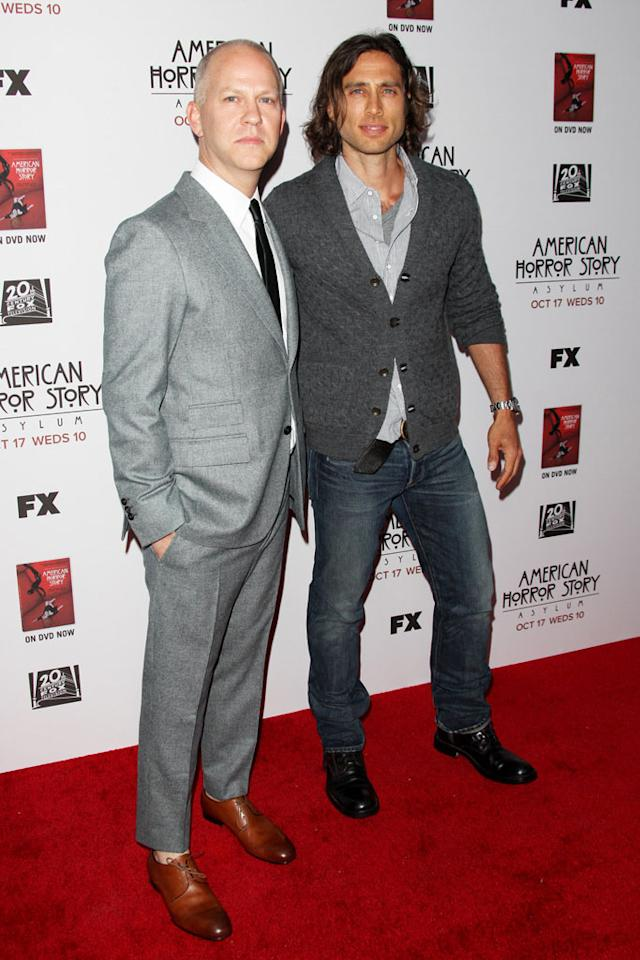 """Ryan Murphy and Brad Falchuk attend the """"American Horror Story: Asylum"""" premiere held at Paramount Studios on October 13, 2012 in Hollywood, California."""