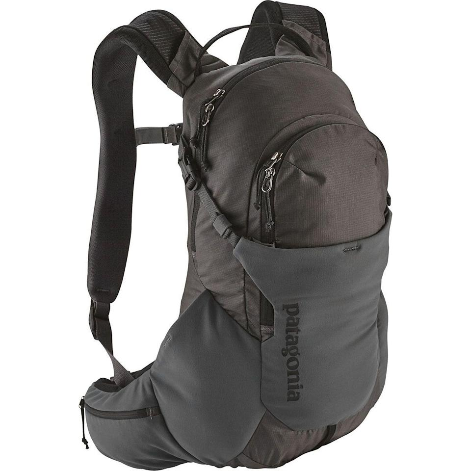 """<p><strong>Patagonia</strong></p><p>backcountry.com</p><p><strong>$139.00</strong></p><p><a href=""""https://go.redirectingat.com?id=74968X1596630&url=https%3A%2F%2Fwww.backcountry.com%2Fpatagonia-nine-trails-14l-backpack&sref=https%3A%2F%2Fwww.prevention.com%2Ffitness%2Fworkout-clothes-gear%2Fg36330154%2Fbest-hydration-packs%2F"""" rel=""""nofollow noopener"""" target=""""_blank"""" data-ylk=""""slk:Shop Now"""" class=""""link rapid-noclick-resp"""">Shop Now</a></p><p>A Patagonia reviewer says the fit of this hydration pack is """"spot on."""" Its adjustable shoulder strap and waistbelt <strong>allow you to control how it fits your body. </strong>The pack is made of nylon making it a great lightweight option for those all-day adventures. It also has a 2-liter water bladder and five compartments to fit your things in.</p>"""