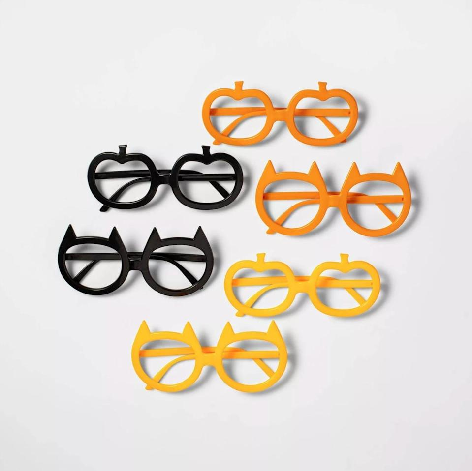 <p>These festive <span>Hyde & EEK! Boutique 6-Count of Halloween Glasses</span> ($3) will certainly turn heads. We especially love the pumpkin set.</p>