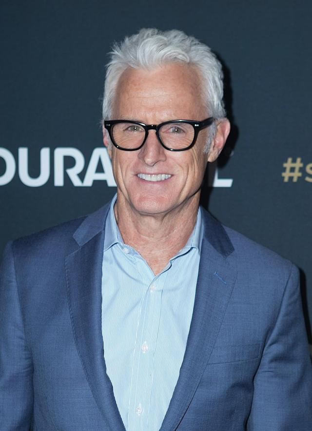"<p>The <em>Mad Men</em> alum, 54, is a total silver fox — just don't call him one. ""<a href=""http://www.vanityfair.com/hollywood/2009/11/john-slattery"" rel=""nofollow noopener"" target=""_blank"" data-ylk=""slk:I hate 'silver fox"" class=""link rapid-noclick-resp"">I hate 'silver fox</a>,'"" Slattery, who has been married to Talia Balsam since 1998, told<em> Vanity Fair</em> in 2009. ""I absolutely hate it. It just sounds so… slimy and embarrassing."" Noted, but it's said with appreciation. (Photo: Ryan Liu/FilmMagic) </p>"