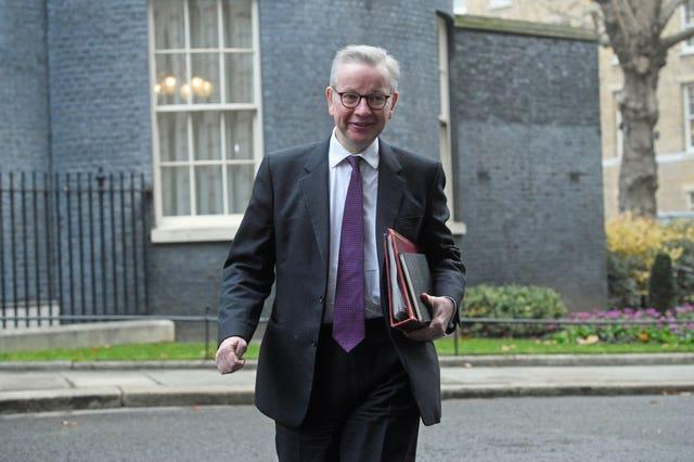 Michael Gove in Downing Street