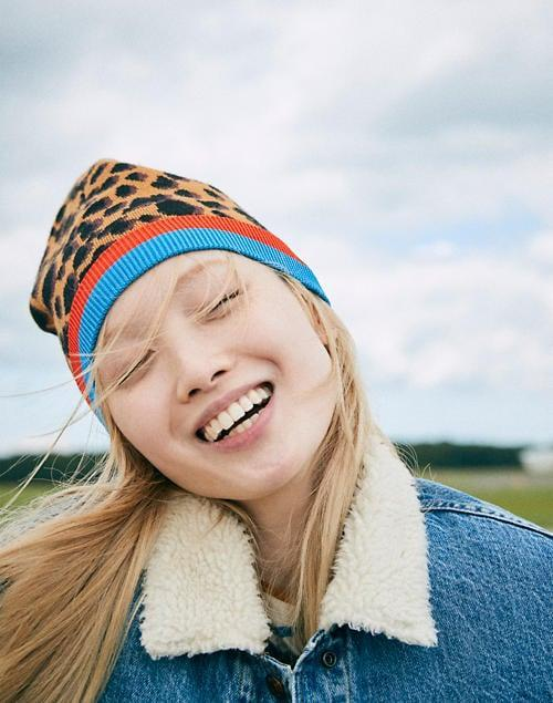 <p>This <span>Madewell x Kule Genius Beanie</span> ($98) is perfect for the season, and comes in such a fun print.</p>