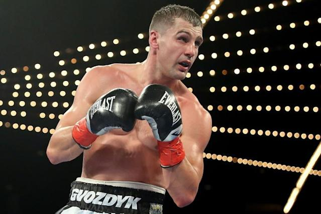 Ukraine boxer Oleksandr Gvozdy was released from a US hospital on Sunday after suffering a concussion in a light heavyweight world title loss Friday in Philadelphia (AFP Photo/Abbie Parr)