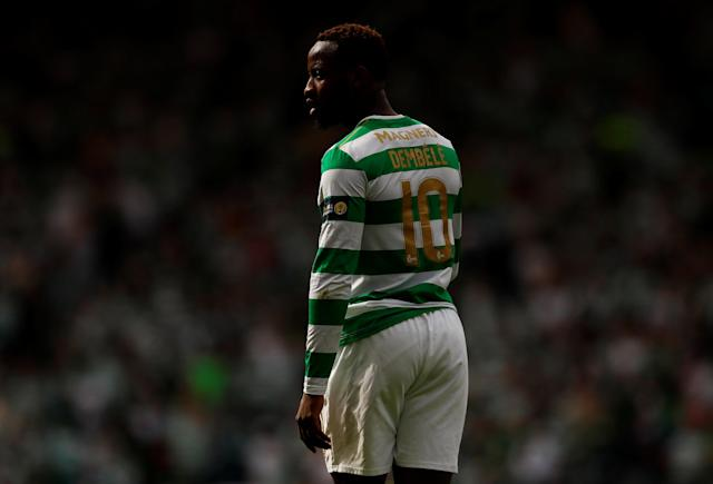 Soccer Football - Scottish Cup Final - Celtic vs Motherwell - Hampden Park, Glasgow, Britain - May 19, 2018 Celtic's Moussa Dembele in action Action Images via Reuters/Jason Cairnduff