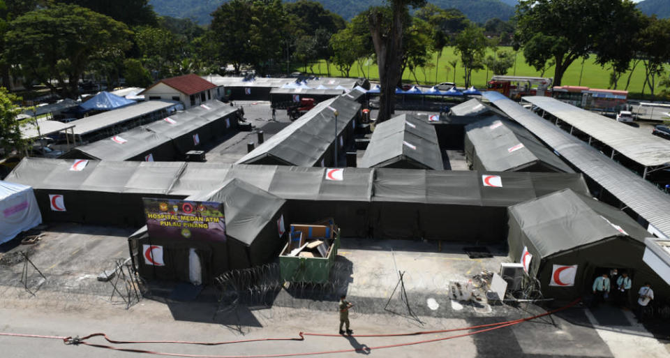Penang Chief Minister Chow Kon Yeow said there are now a total of 101 ICU beds for Covid-19 cases and if the need arises, the state health department can set up eight additional ICU beds, four each at the Penang General Hospital and the field hospital at its car park.  — Bernama pic