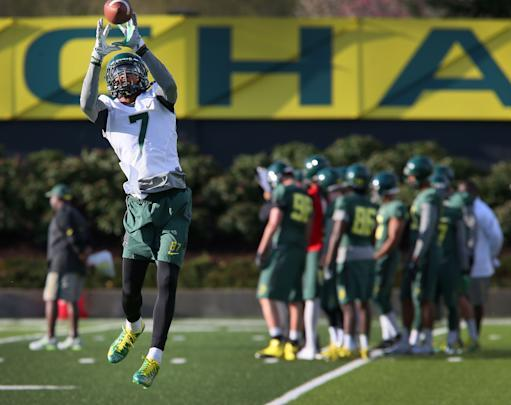 Oregon opens spring practice looking at QBs
