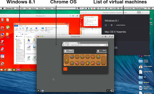 Parallels windows for Windows and Chrome