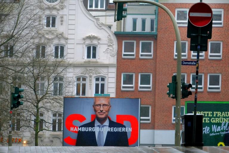 """Incumbent SPD mayor Peter Tschentscher, 54, will likely remain in office as head of a """"red-green"""" coalition in party bastion Hamburg"""