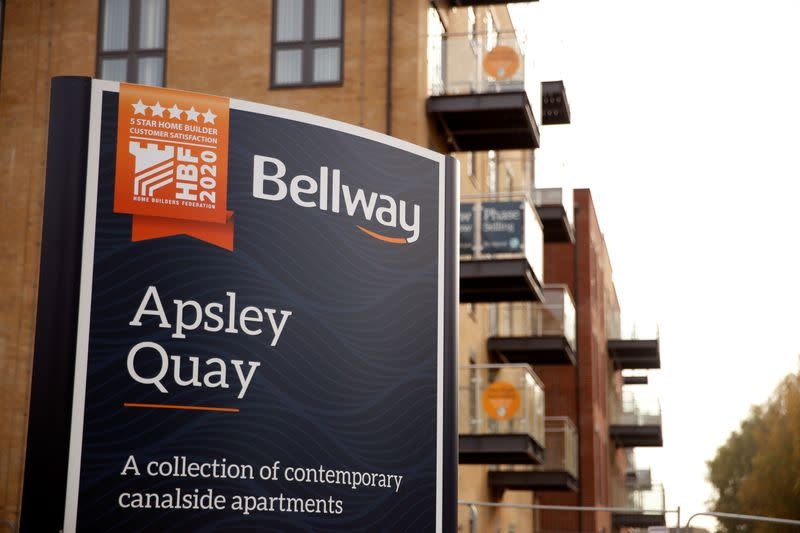 FILE PHOTO: General view of Bellway housing development site in Apsley