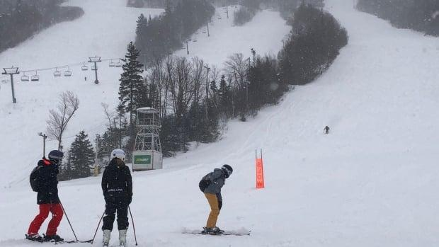 Skiers rejoice! Marble Mountain is open.  (Colleen Connors/CBC - image credit)