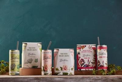Bonterra Organic Vineyards releases organically farmed wine in lightweight, eye-catching cans. Debut flavors are popular varietals Sauvignon Blanc and Rosé, and the stylish new Young Red.