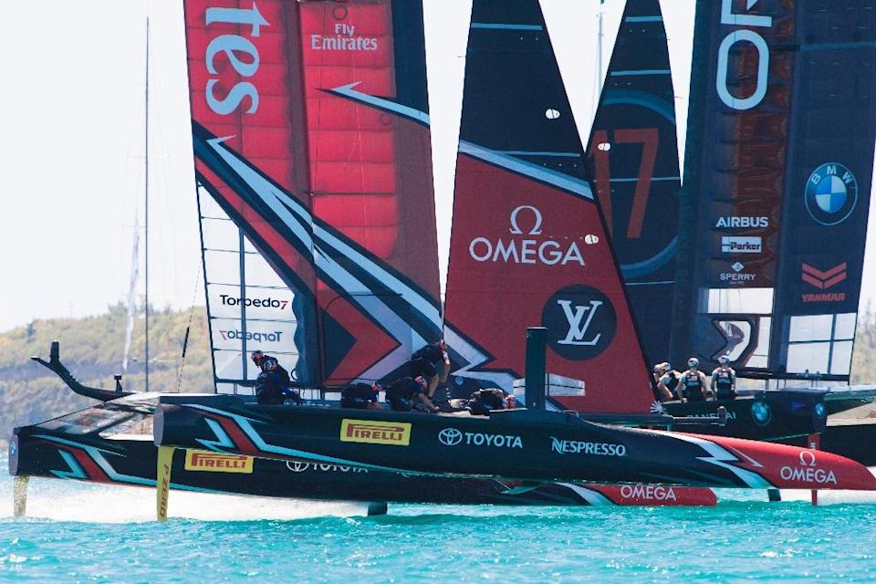 Team New Zealand lead Team USA 3-0 after four races in the 2017 America's Cup in Hamilton, Bermuda (AFP Photo/Chris CAMERON)