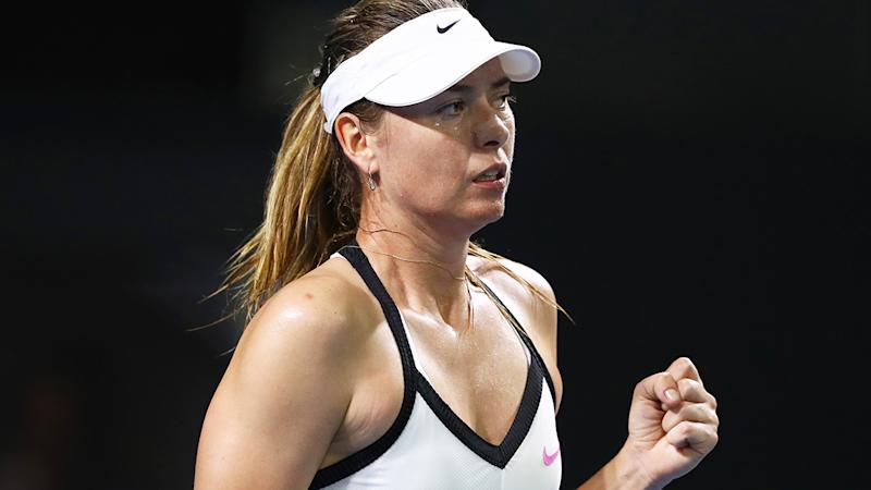Maria Sharapova has joined several prominent female players in her frustration over the Brisbane International draw. (Photo by Chris Hyde/Getty Images)