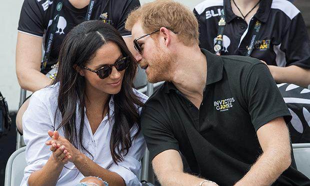 PRince Harry and Meghan Markle at the invictus games.