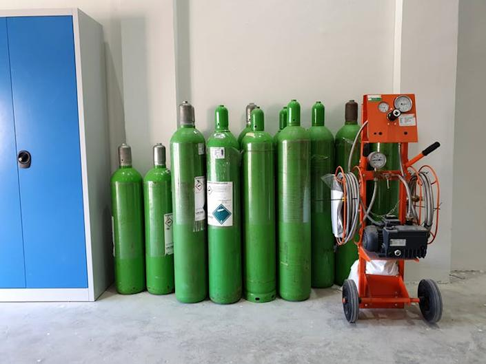 """<span class=""""caption"""">SF₆ gas often leaks from electrical installations.</span> <span class=""""attribution""""><a class=""""link rapid-noclick-resp"""" href=""""https://www.shutterstock.com/image-photo/sf6-gas-handling-tank-insulated-substation-1281988570"""" rel=""""nofollow noopener"""" target=""""_blank"""" data-ylk=""""slk:Somsit/Shutterstock"""">Somsit/Shutterstock</a></span>"""