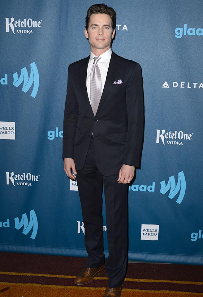LOS ANGELES, CA - APRIL 20:  Actor Matt Bomer arrives at the 24th Annual GLAAD Media Awards presented by Ketel One and Wells Fargo at JW Marriott Los Angeles at L.A. LIVE on April 20, 2013 in Los Angeles, California.  (Photo by Earl Gibson III/Getty Images)