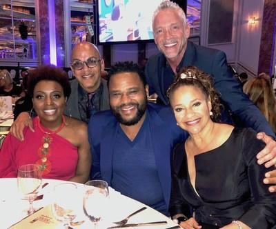 Debbie Allen, Anthony Anderson, Dave Koz, Ledisi, & Rickey Minor at ETM-LA's 14th Annual Benefit Gala (Photo Credit: Rickey Minor)