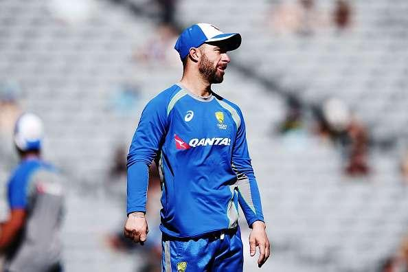 AUCKLAND, NEW ZEALAND - JANUARY 30: Matthew Wade of Australia looks on prior to the first One Day International game between New Zealand and Australia at Eden Park on January 30, 2017 in Auckland, New Zealand. (Photo by Anthony Au-Yeung/Getty Images)