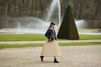 "<p>Set against the beautiful backdrop of the gardens at the Château de Vaux-le-Vicomte (which were designed by André Le Nôtre, the same landscape artist behind the gardens at the Palace of Versailles), the Celine autumn/winter 2021 saw models gently meandering through the grounds of the spectacular house. </p><p>Hedi Slimane's latest collection was described as a ""utopian parade and melancholic daydream of youth interrupted"" in the show notes, inspired by the work of French poets Paul Verlaine, Charles Baudelaire and Arthur Rimbaud. </p>"
